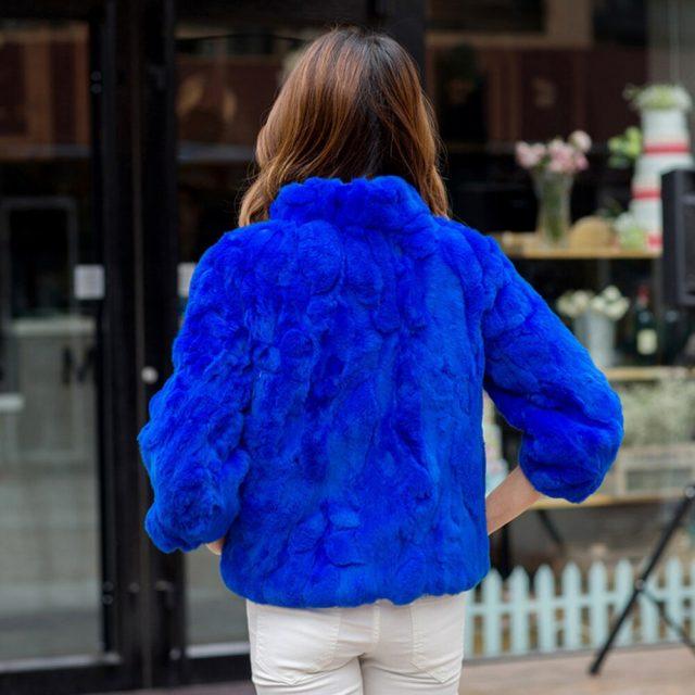 2019 New Hot Sale Lady Real Rex Rabbit Fur Coat Genuine Real Rex Rabbit Fur Jacket Casual100% Natural Rex Rabbit Fur Waistcoat