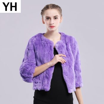 2019 New Style Autumn Winter Genuine Real Rex Fur Jacket Women Casual Rex Rabbit Fur Coat Natural Rex Rabbit Fur Short Overcoat