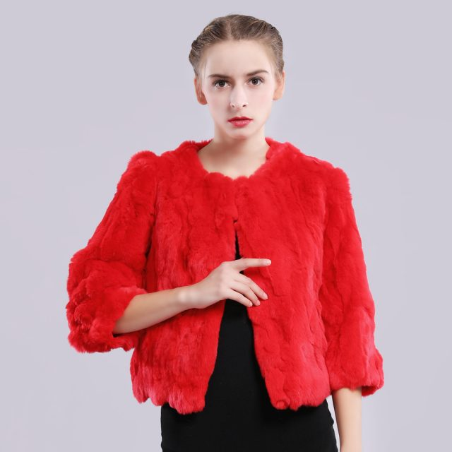 2019 New Style Autumn Winter Genuine Real Rex Fur Jacket Women Casual Rex Rabbit Fur Coat Natural Rex Rabbit Fur Short Overcoat