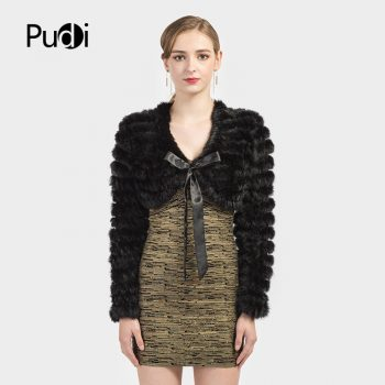 Pudi real rabbit fur vest shawl wraps fur coat woman wedding poncho sweater SRR012