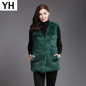 2019 New Autumn Winter Genuine Full Pelt Real Fur Waistcoat Women Real Rabbit Fur Sleeveless Coat Real Natural Rabbit Fur Vest