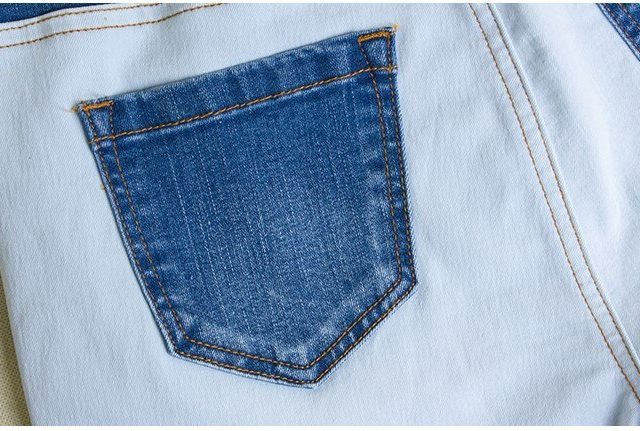 catonATOZ 2170 New Arrived Patchwork Jeans Ladies Mid High Waist Denim Pants Womens Stretch Skinny Trousers For Women