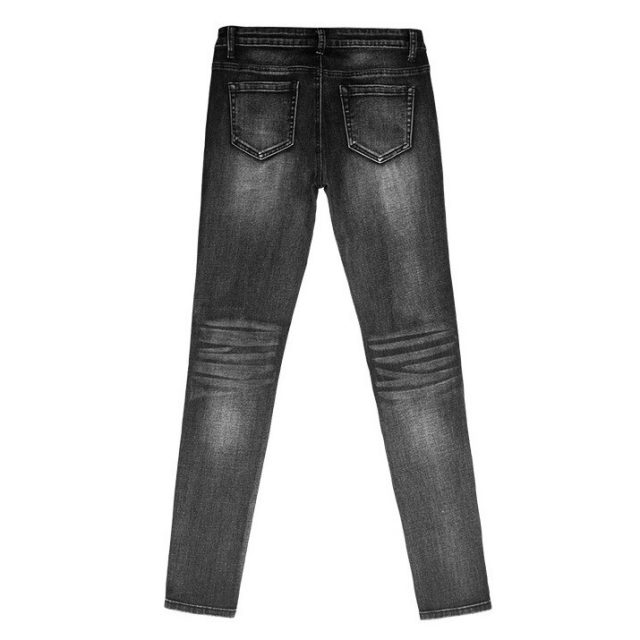catonATOZ 2230 Black Low Waist Distressed Jeans New Ladies Cotton Denim Pants Stretch Womens Ripped Skinny Jeans For Female
