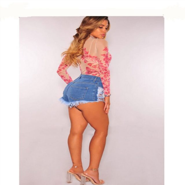 NORMOV Denim Shorts Women Sexy High Waist Casual Jeans Summer Fashion Tassel Ripped Short Pants Feminino Jean Shorts