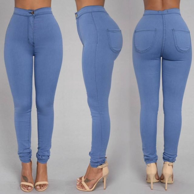 High Waist Skinny Denim Pant Women Legging Fashion Sexy Elasticity Pantalones Mujer Push Up Ropa Mujer Black White Women Clothes
