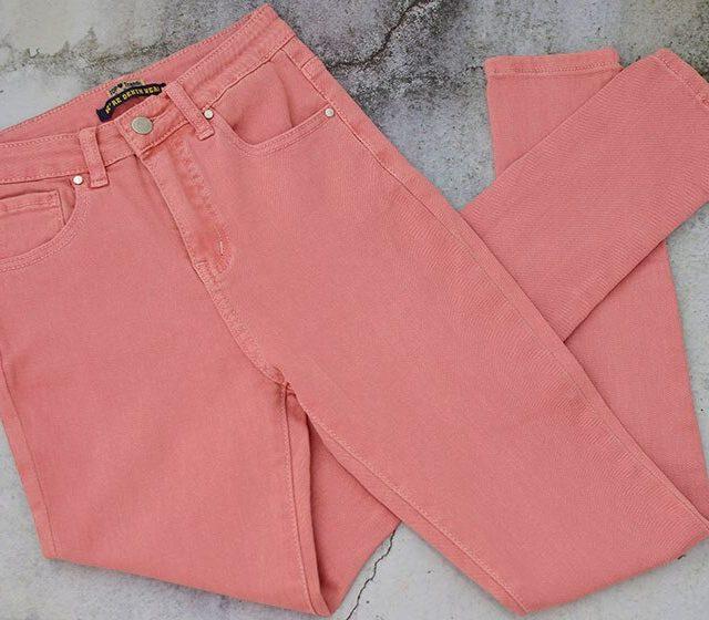 High Waist Pink Skinny Jeans Women Streetwear England Plus Size Denim Pants Femme Elegantes Lady Pencil Pants Vaqueros Mujer