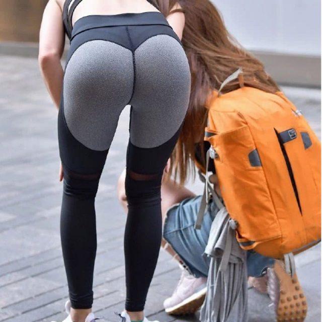 Sexy Soft Push Up Leggings Women Legins Mesh Workout Legging Fitness Leggins Modis Pants Sporting Jeggings Black Activewear