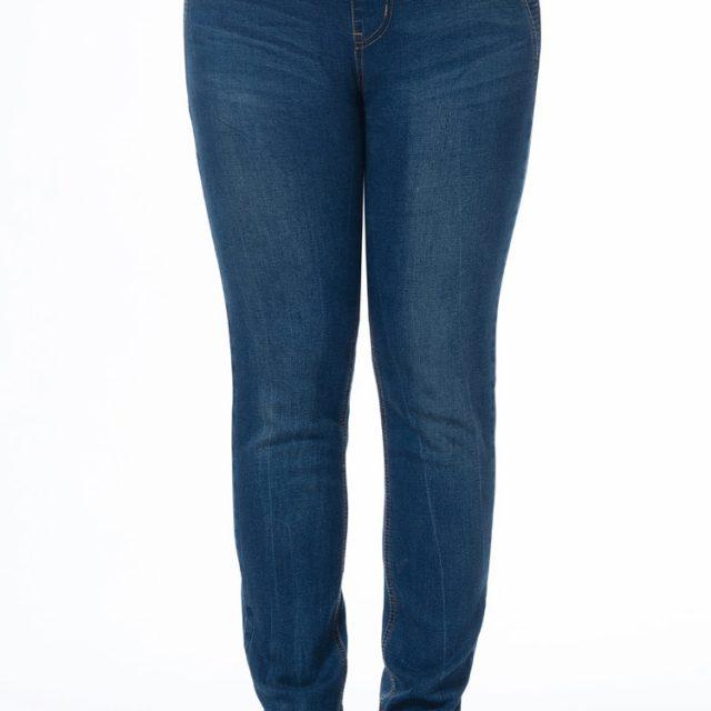 TUHAO Jeans Woman Large Size Women Plus Size Jenas 5XL 6XL 7XL Pencil Pants Elastic Waist Casual Trousers Cotton Blue PT25