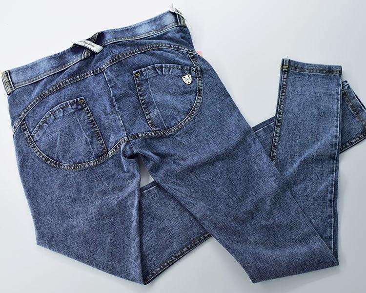 Low Waist Push Up Jeans Women Fashion High Street Snow Wash Slim Elasticity Skinny Denim Pants Soft Cotton Vaqueros Mujer 2019