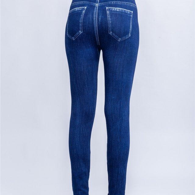 Jeggings Jeans for Women High Waist Skinny striped Fake Denim Leggings Femme Push Up Pencil Pants Plus Size Stretchy Leggings