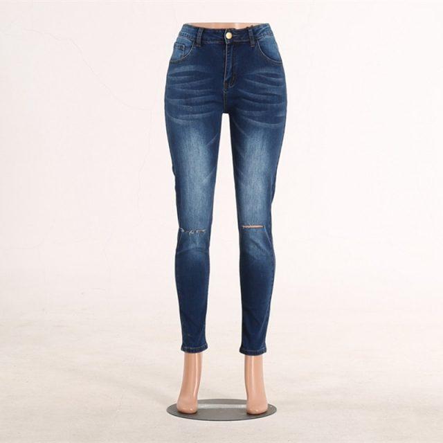 High Waist Skinny Ripped Jeans push up Denim Jeans Boyfriend Jeans For Women Plus Size Pencil Pants Vintage Stretch Mom Jeans