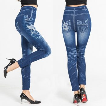 Ladies Leggings High Waist Printed Pattern Breathable Pants Sports for Women NFE99