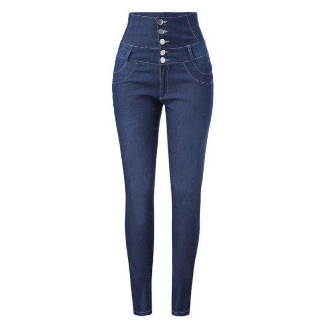 High Waist Jeans Woman 2019 Female Sexy Push Up Mom Jeans Winter Femme Skinny  Elastic Stretch Denim Pants