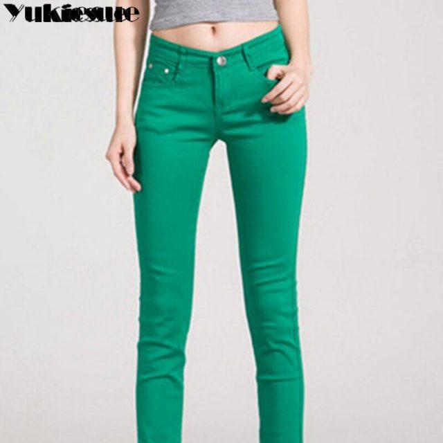 2019 New Slim Pencil Pants Vintage skinny jeans High Waist Jeans New Women pants full length Pants Female denim skinny Pants