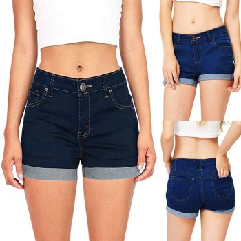 Hawcoar Fashion Jeans Women Low Waisted Washed Solid Short Mini Jeans Denim Pants Shorts Wholesale Free Ship джинсы женские Z4