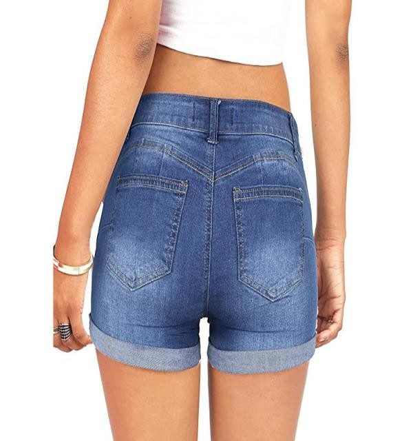 Summer New Fashion Jeans Women Low Waisted Washed Ripped Hole Short Mini Jeans Denim Pants Shorts Free Ship джинсы женские Z4