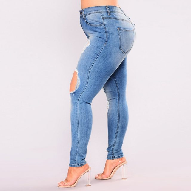 Pants Blue Sexy Jeans Pantalones Mujer Cintura Alta Jean Women Hight Waisted Long Pants Pocket Denim Stretch Length Jeans Z4