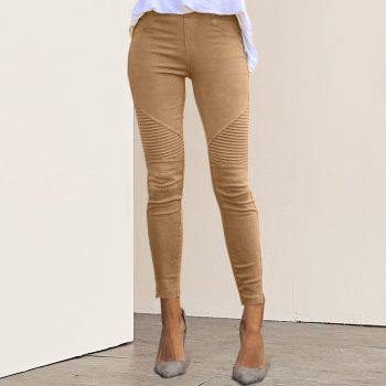 2019 New Women Jeans Legging Blue Striped Print Legging Women Imitation Jean Slim Fitness Legging Elastic Seamless Jeans