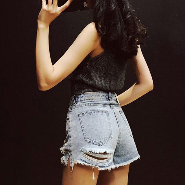 Dzinsy Damskie Jeans Women Plus Size Jeans for Womens Jeans Short Jeans Denim Female Pockets Wash Tassel Denim Shorts Mom JeanZ4