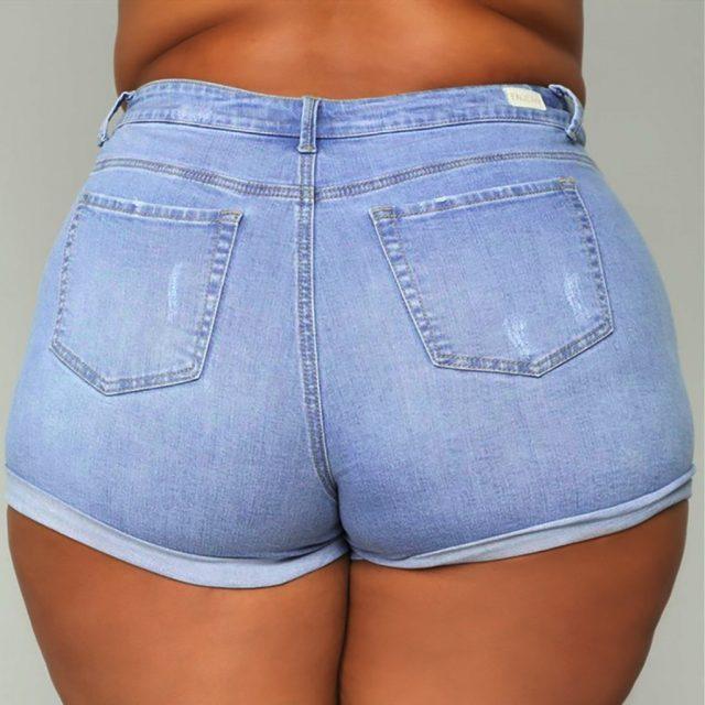 5xl Pants Women Plus Size Dames Jeans Broeken Vaqueros 2019 Women Summer Short Jeans Denim Female Pockets Wash Denim Shorts Z4