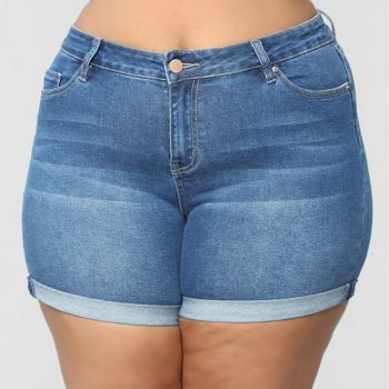 5xl Spijkerbroeken Dames Women Jeans Plus Size Skinny Jeans Woman Summer Short Jeans Denim Female Pockets Wash Denim Shorts Z4