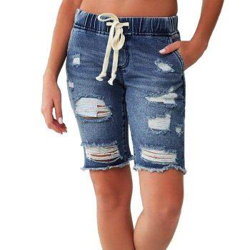 Jeans Slim Women Skinny Jeans Woman Spodnie Jeansowe Damskie Jeans Mom Short Jeans Denim Female Pockets Wash Denim Shorts Z4