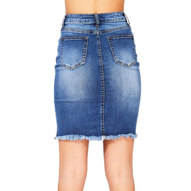New summer hot short skirt fashion women's jeans stretch jeans high waist denim skirt casual skirt slim jeans sexy ladies jeans