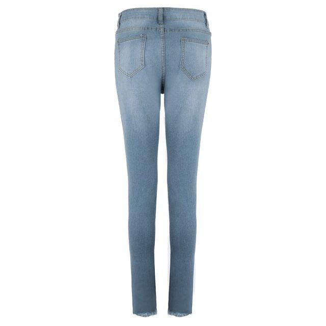 Pickyourlook Skinny High Waist Ripped Jeans Slim Female Jeans Pants For Women Fashion Pencil Trouser Streetwear Denim Charm Pant