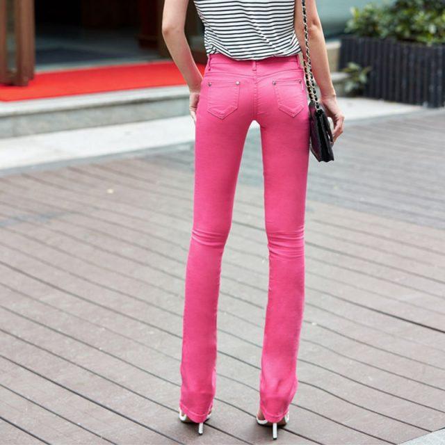 fashion street wear flare jeans women Casual vintage bell bottom jeans female Mom's slim waist Basics jeans denim pants women