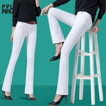 Casual Plus Size Office Pencil Flared Pants Women Factory Wholesale Cheap 95%cotton Stretch Trousers Women Work Pants Ladies
