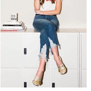 Boyfriend Ripped Jeans For Women Juniors Straight Leg Destroyed Jeans Women Raw Jeans Ankle Length Denim Pants Female