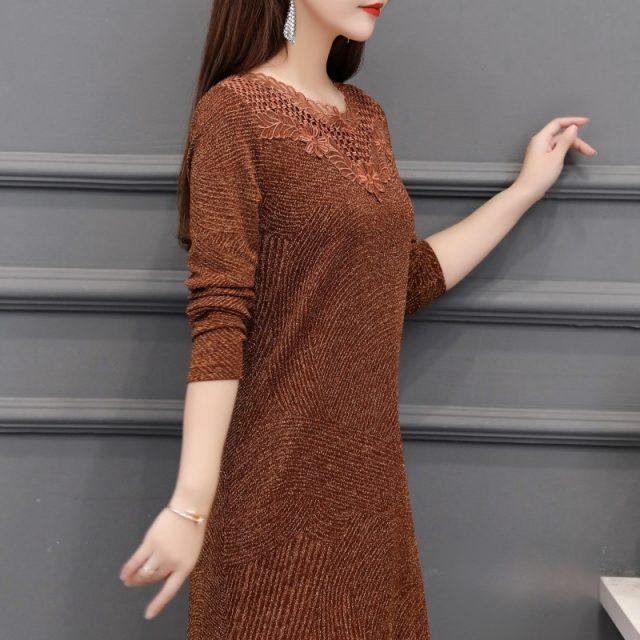 2019 Autumn Winter Plus Size hollow out sexy solid mini Dresses Women Elegant Korean Bodycon Dress Party Long Sleeve Vestidos