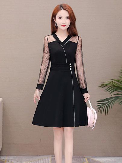 Plus size lace dress New Arrival 2020 Flower Patchwork Ruffles high quality Slim Women Dresses Long Party office vestidos