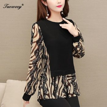 2020 print women blouse chemisier femme womens tops and blouses plus size women Tops long sleeve women's spring blouses