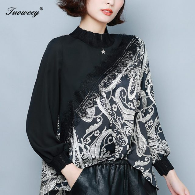 Tunics Women Tops tunic ruffle blouse 4xl Plus Size Lace Womens Clothing Shirt Long Sleeve Shirts 5xl blusas feminina