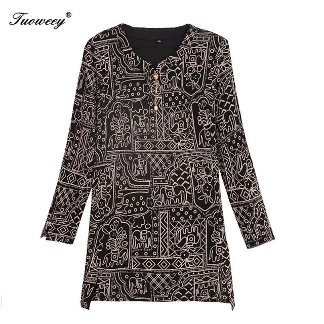 2020 spring stye Women's Shirts red plus size 5XL o neck Split elegant blusas Women Blouse Fashion New floral mother tops