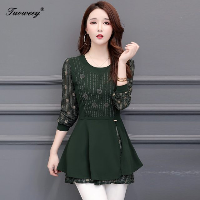 5XL Plus Size floral Women Blouses long Sleeve hollow out Long Shirt Female Casual tops 2019 korean fashion clothing