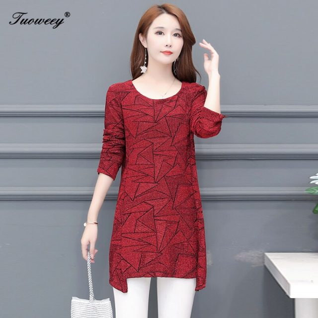 New 2020 spring Women Blouses long Sleeve career Shirt Red Casual o-neck Clothing Large Size Female Tops Blusas