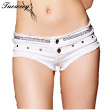 2019 summer club Hot Sexy Women Jean Denim Booty Shorts Feminino Low Rise Waist Micro Mini Short pants Women Clothing Bottom