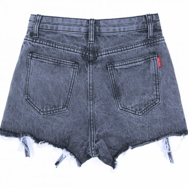 Hole Ripped Summer Shorts Women All-match Women's Shorts Tassel Solid Womens Short Pants Fashion Mid Waist Female Ladies Pants