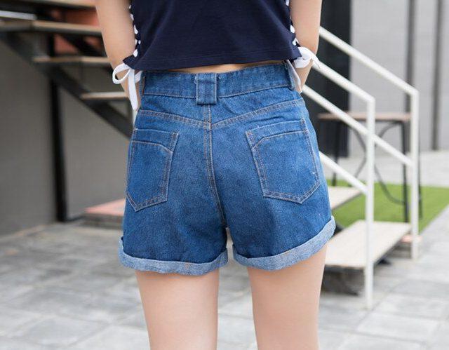 2019 Euro Style Women button Denim Shorts Vintage mid Waist Tassel Jeans Shorts Street Wear Sexy Wide Leg Shorts For Summer