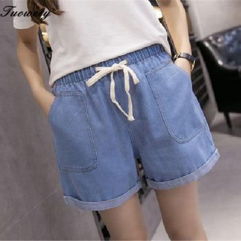 2018 New Women Shorts streetwear Summer sexy Denim Shorts mid Waist Jeans Short Plus Size Hole Cowboy Straight Jeans Shorts