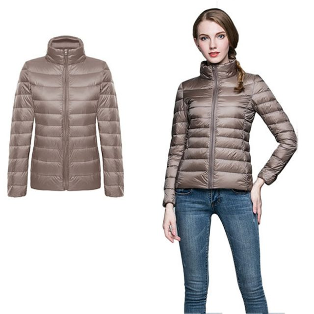 Women Winter Coat 2019 New Ultra Light White Duck Down Jacket Slim Women autumn Puffer Jacket Portable Windproof Down Coat Parka