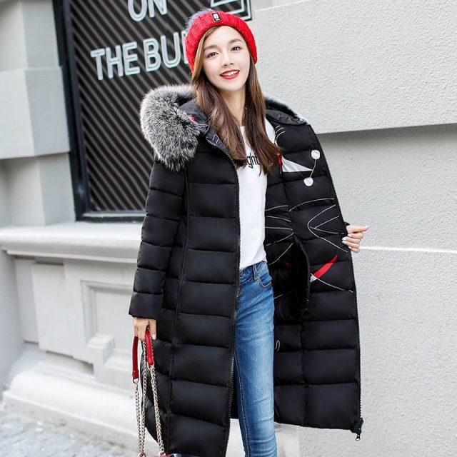 URSPORTTECH Brand Women Long Down Parka Reversible Jacket Women Winter Down Jacket Women 2019 Hooded Oversize Coat Plus Size 3XL