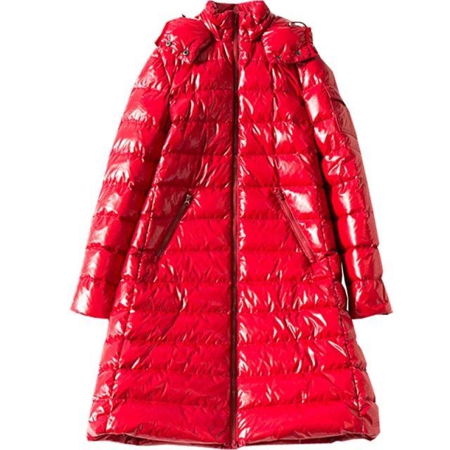 2019 Winter Large size Women down jacket Hooded Loose thick warm Female down coat Zip High quality Overcoat Elegant YNZZU 9O050