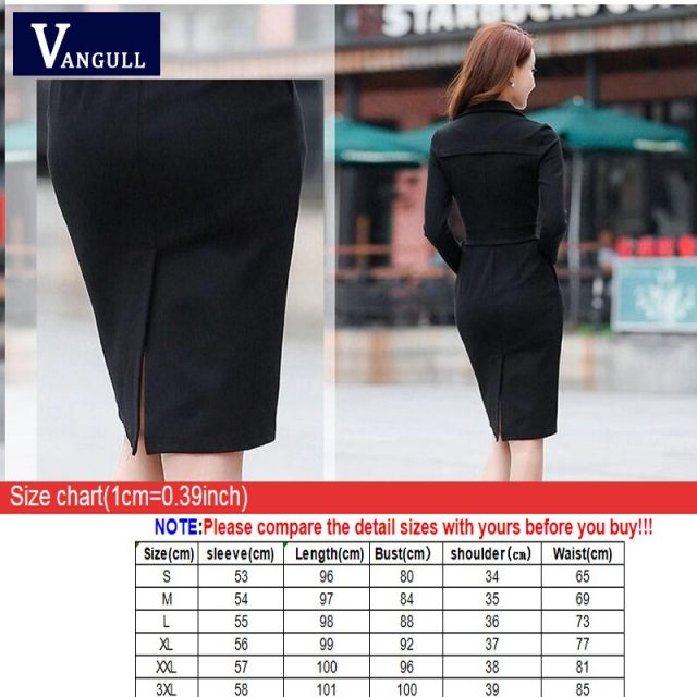 Vangull  Women Elegant Dress Solid High Waist Sashes Dress 2019 Autumn New Office Lady Female Turn-down Collar Slim Dresses