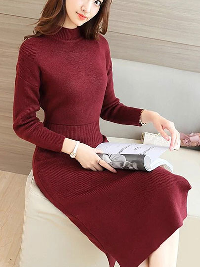 Vangull 2019 New Autumn Winter Warm Sweater Dress Women Sexy Slim Bodycon Dress Female O Neck Long Sleeve Knitted Dress Vestidos
