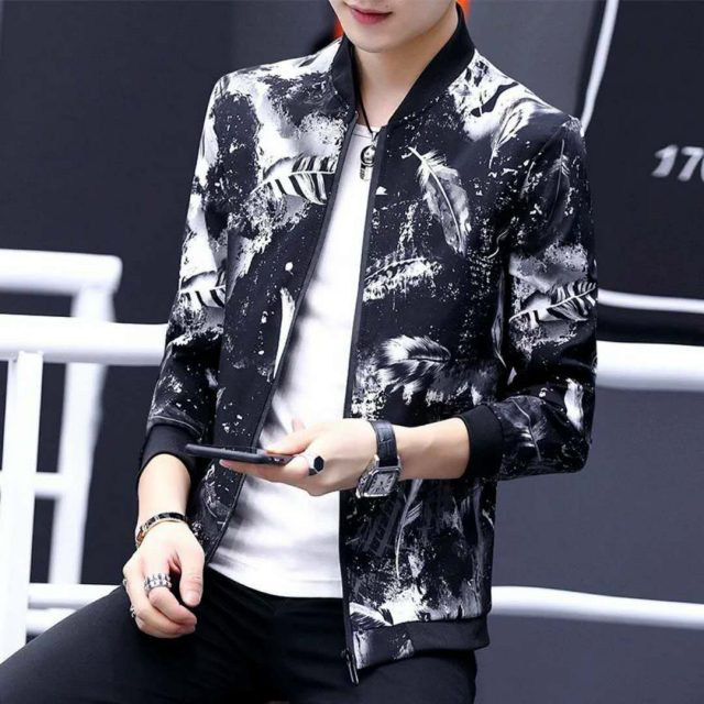 Quality Bomber Solid Casual Jacket Men Spring Autumn Outerwear Mandarin Sportswear Mens Jackets for Male Coats M-4XL XXXL XXXXL