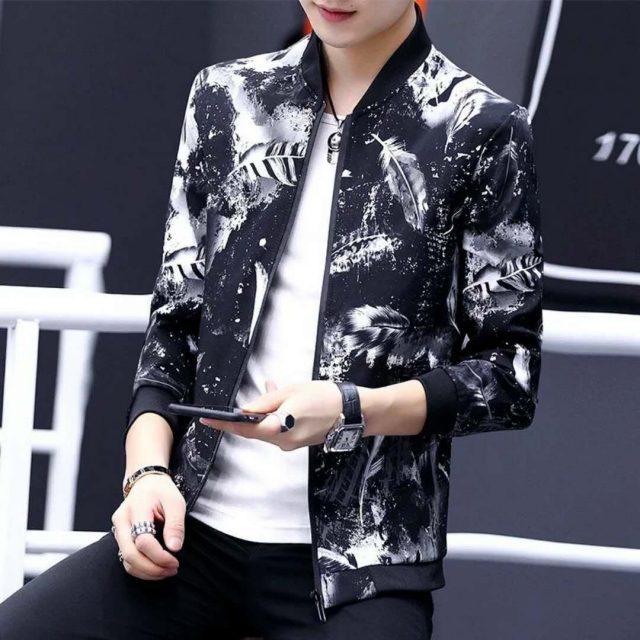 Quality Bomber Solid Casual Jacket Men Spring Autumn Outerwear Mandarin Sportswear Mens Jackets for Male Coats M-4XL XXXL XXXXL