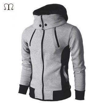 Windbreaker Jackets Man Fashion 2019 New Autumn Winter Men's Jacket Zipper Male Solid Sportswear Fleece Warm Hooded Coat Outwear